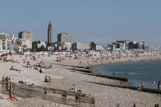 Manfred Kunze, Ansicht Stadt u. Strand von LeHavre II