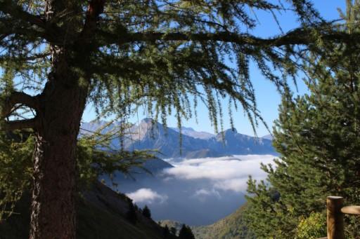 Karin Matthes-Strelow, über den Wolken, in der Nähe von Saint Julien